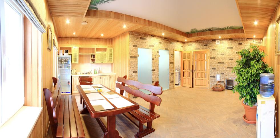 К услугам гостей - большая кухня со всем необходимым, новая баня ... | 485x981